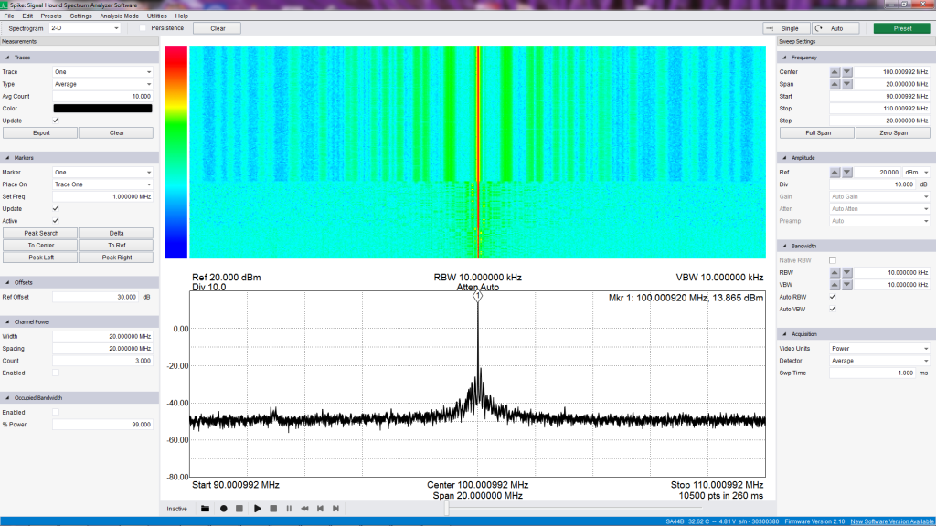 spectrum_VFO_100MHz_20MHz_average